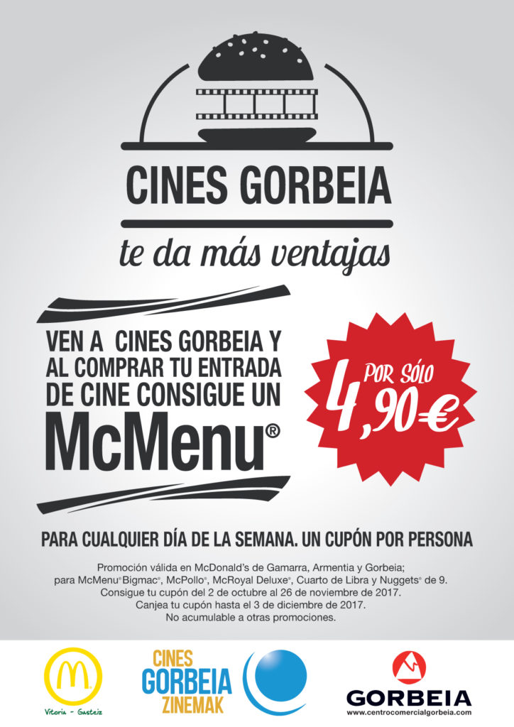 Consigue un McMenu por 4.90€